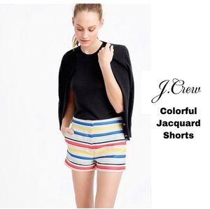 J Crew Colorful Striped Jacquard Shorts